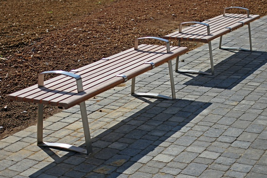 Meko school benches with optional anti skateboard plate
