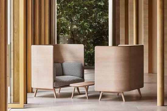 Sage Collection high sofas and table