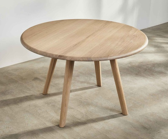 Sage round dining table in oak