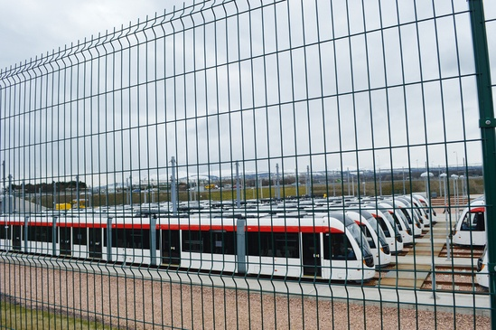 Eclipe-60 profiled mesh fencing, Edinburgh tram depot