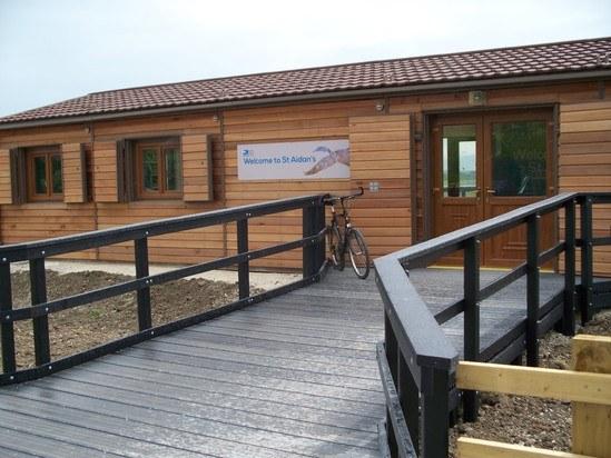 Vandal resistant cedar clad visitor centre