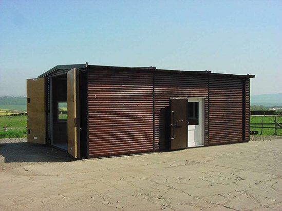 Highly secure modular garage - timber clad