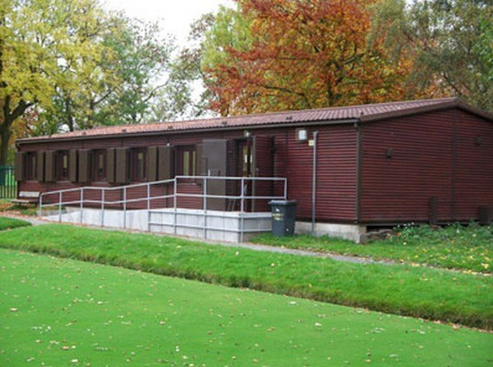 Modular timber-clad pavilion, Albert Park Bowls Club