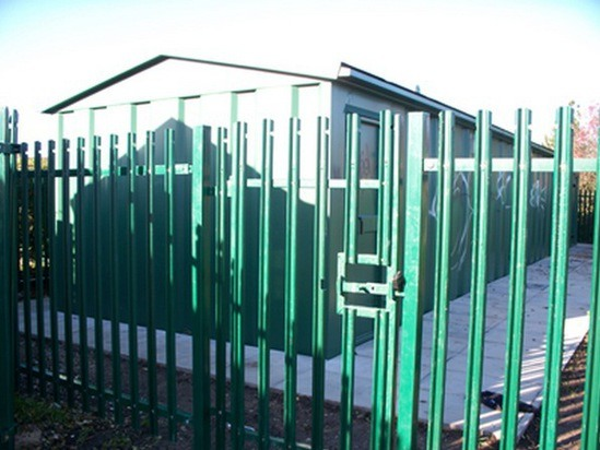 Vandal-resistant changing rooms and plant room