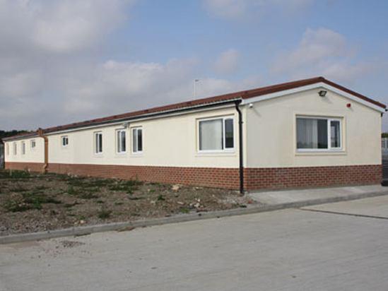 External view of depot building