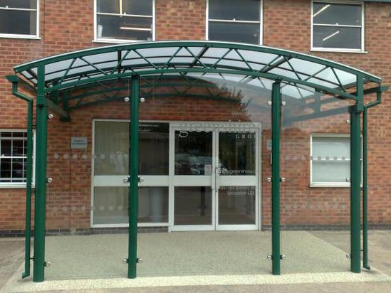 Oxford Entrance Canopy Clovis Canopies Esi Building Design