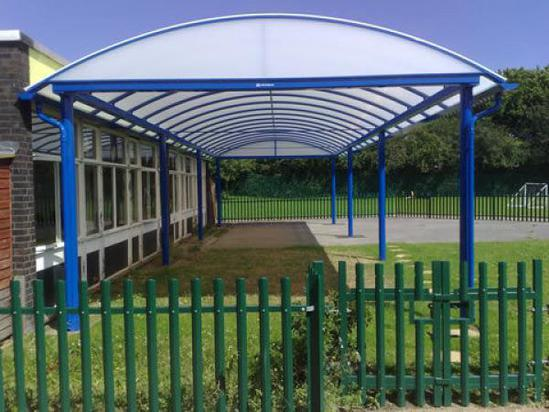 Cheltenham Barrel Vault Canopy Shelter Clovis Canopies