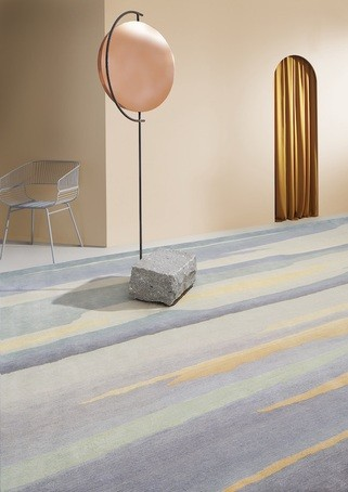 Skyscape Bespoke Hand Knotted Wool And Silk Rug Deirdre