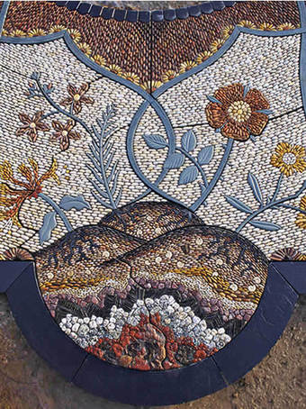 Bespoke Mosaic Garden Paving Cobblestone Designs Esi