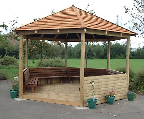 Bespoke Hexagonal And Octagonal Timber Wooden Gazebos