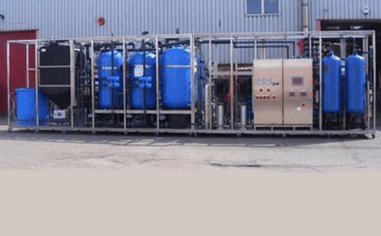Skid-mounted demin plant for boiler make up water