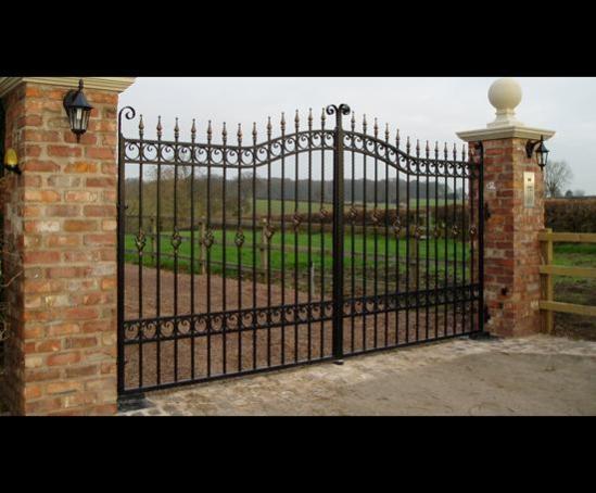 Steel ornamental driveway swing gates brooks forgings