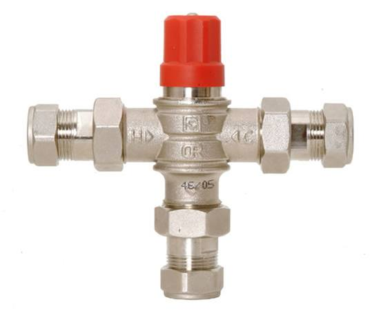Shield thermostatic mixing valve