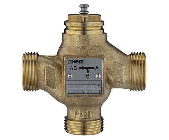 Three way mixing diverting valves