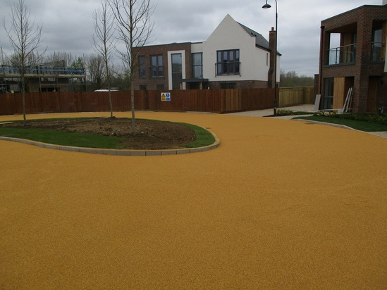 Addastone resin bonded surfacing for access road
