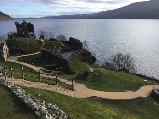 Urquhart Castle with newly surfaced pathways