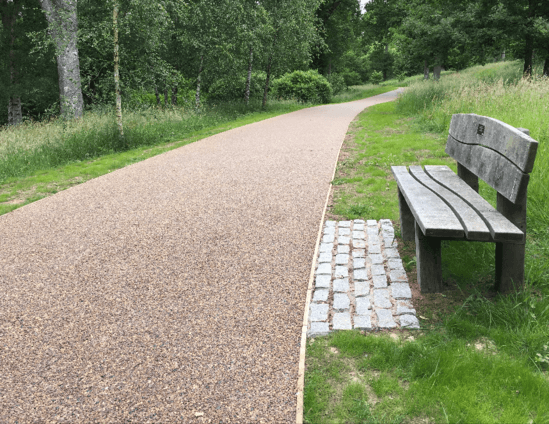 No dig resin bound porous paving