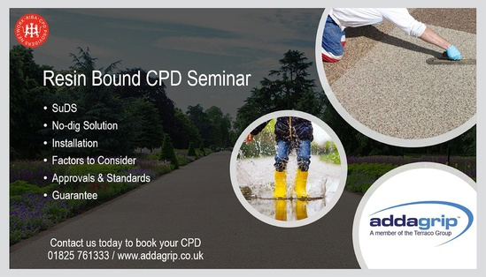 RIBA-approved resin bound surfacing CPD from Addagrip