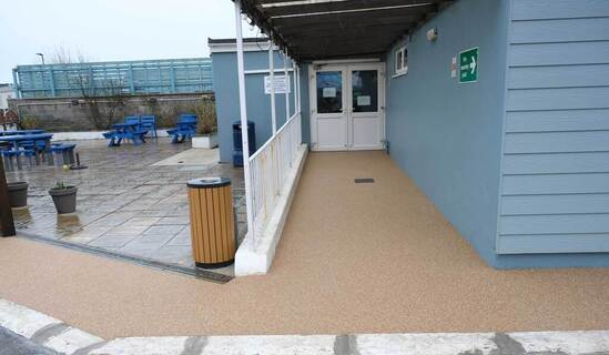 Resin bound pathways for Bracklesham Bay Boat Club