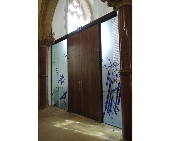 Architectural glass art panels st james priory bristol for Product design consultancy bristol