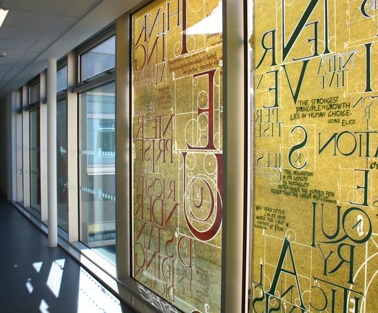Calligraphic tapestry city school sheffield bradley - Sheffield school of interior design ...
