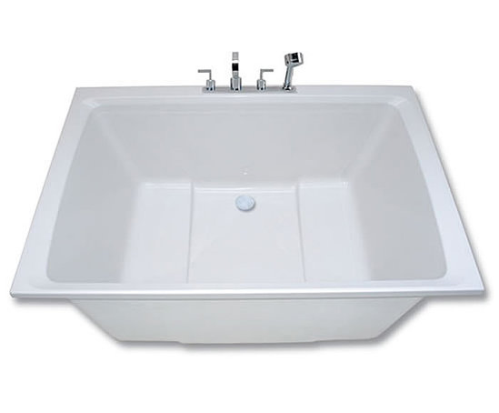 Xanadu japanese style deep soaking tub design form for Deep built in bathtubs