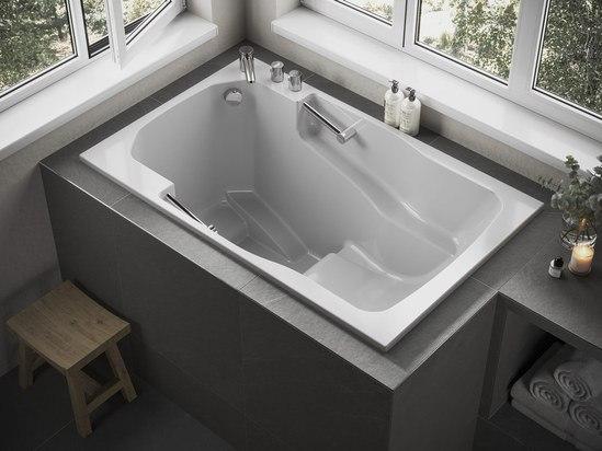 The Takara easy access deep soaking tub