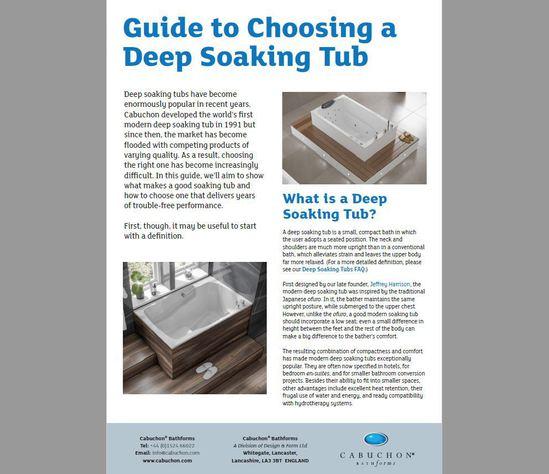 Cabuchon's Guide to Choosing a Deep Soaking Tub.