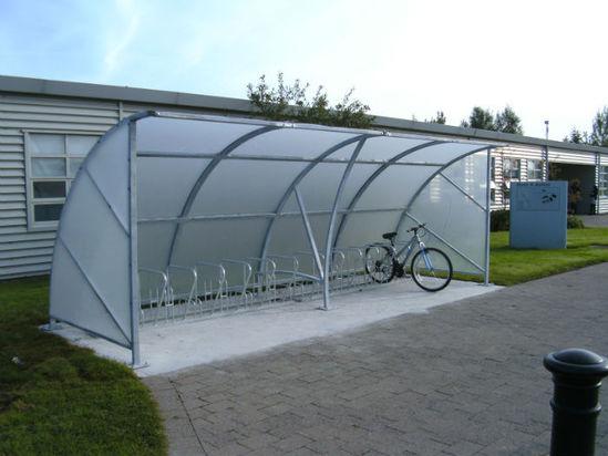 Full Bike Shelters : Kent blanchardstown bicycle shelter kbbs