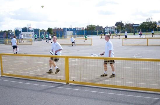Steel tennis nets