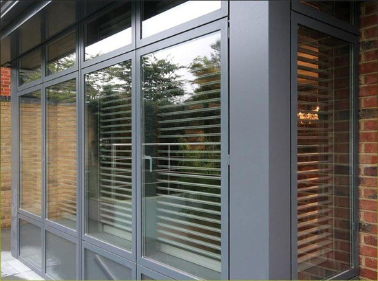 Rolling security shutters for prestigious london home charter global esi building design - The rolling shutter home in bohemia ...
