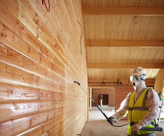 Nu-Flame fire protection, clear timber impregnations