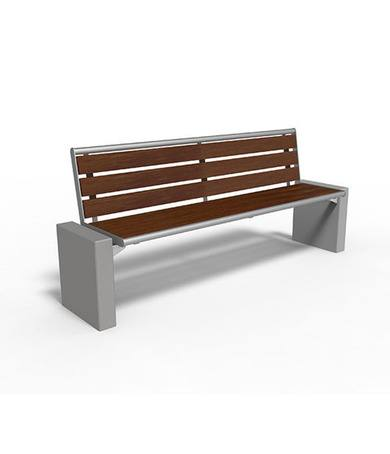 Gloria stand-alone benches are a modern, durable design