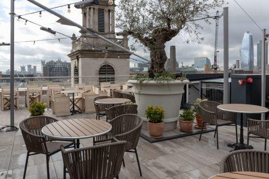 Pedestals used in Vintry & Mercer roof terrace