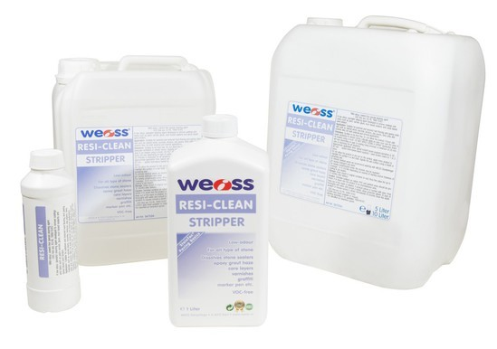 Weiss RESI-CLEAN available in 1L, 5L and 10L bottles.