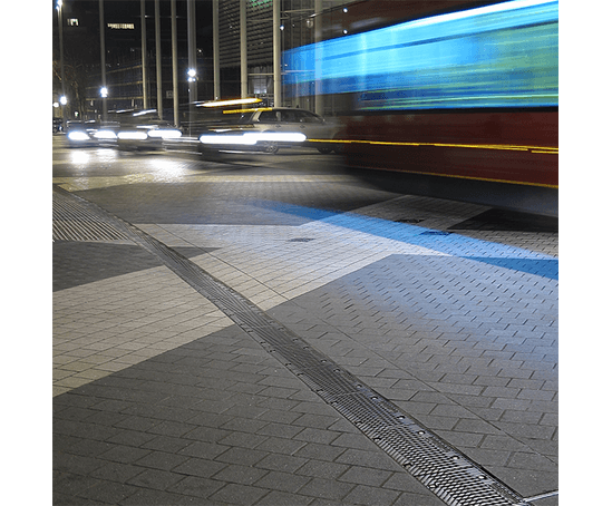 Exhibition road, London; grouted with tufftop