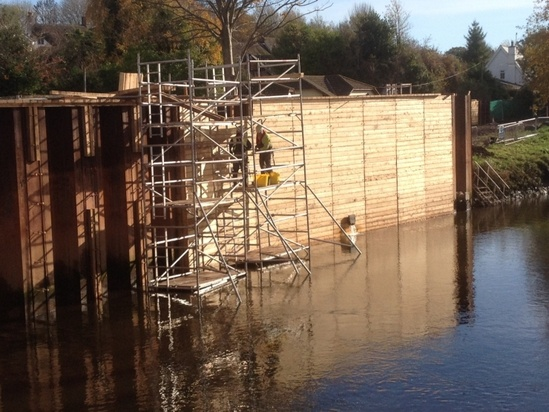 Siberian larch cladding - Exeter Flood Defence