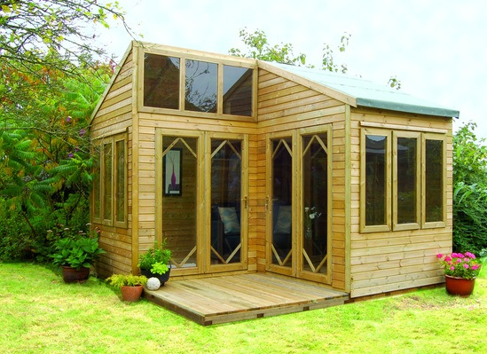 Forest Garden log cabins Howarth Timber Group ESI Building Design