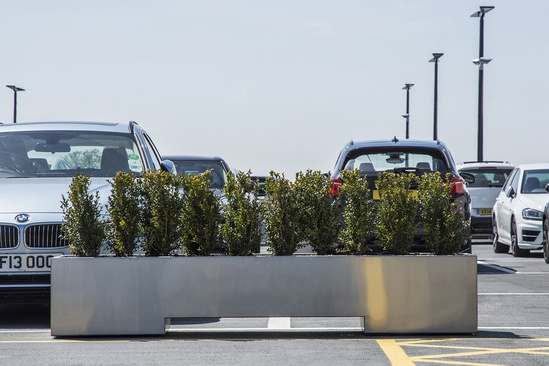 Bespoke stainless steel planter - Cotswold Motor Group