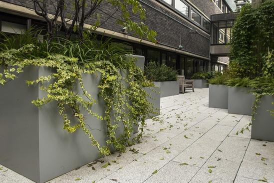 Bespoke steel planters - City, University of London