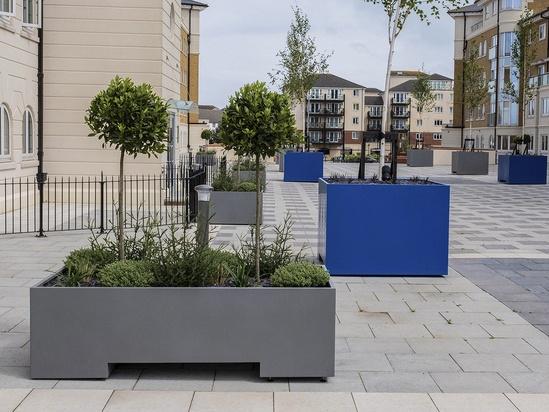 Bespoke steel tree and shrub planters