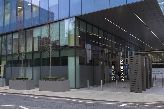 Bespoke steel planters for No. 1 Spinningfields