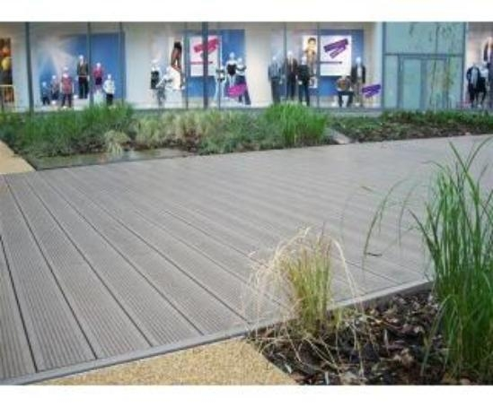 Govadeck anti slip recycled plastic decking boards for Recycled plastic decking