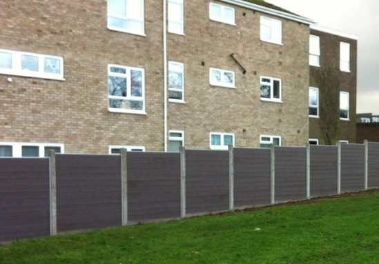 GovaWall® panels used with existing concrete posts