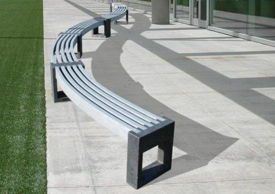 Canvas 30 Degree Recycled Plastic Curved Bench Goplastic Esi External Works
