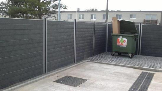 GovaWall® fence system around bin store