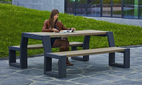 GovaPlast® recycled plastic Matrix 08 picnic suite