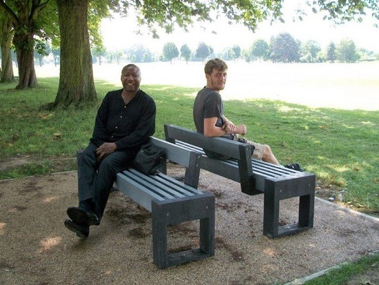 Canvas bench Enfield Council Playing Field