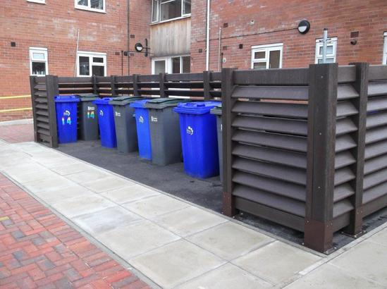 Bin enclosure - Stoke City Housing - Mier Estate