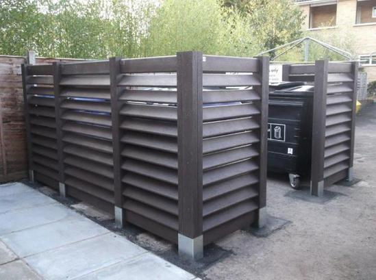 Normandie Bin Bay enclosure in recycled plastic
